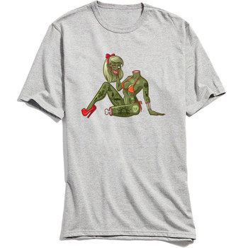 Hippie T-shirt Men Custom Tshirt Im Dead Not Ugly Zombie Woman Print T Shirts 100% Cotton Short Sleeve Tops & Tees Faddish