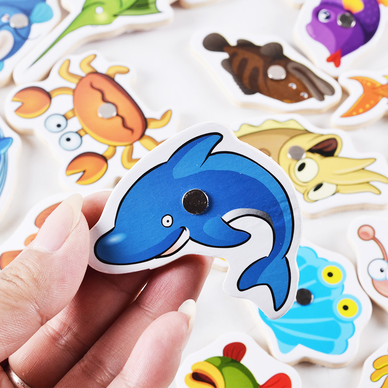 Kids-Fishing-Toys-32Pcs-Fish-Wooden-Magnetic-Fishing-Toy-Set-Fish-Game-Children-Educational-toys-for-Boy-G-2
