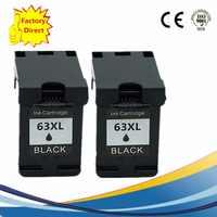 63XL negro cartuchos de tinta remanufacturado para HP63 HP63XL Officejet 3830, 4650, 4652, 4652 envidia 4516, 4512, 4520, 4522