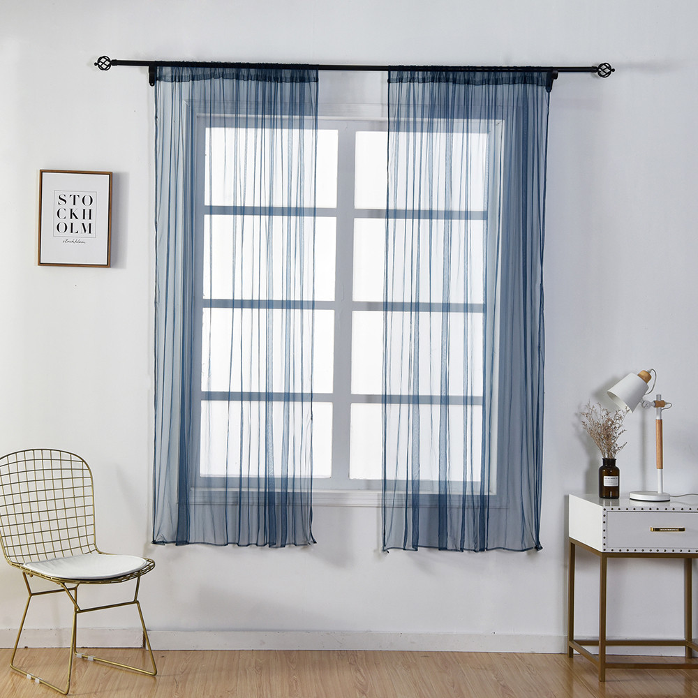 896ccdc9696 1 Panel Fabric Sheer Curtain