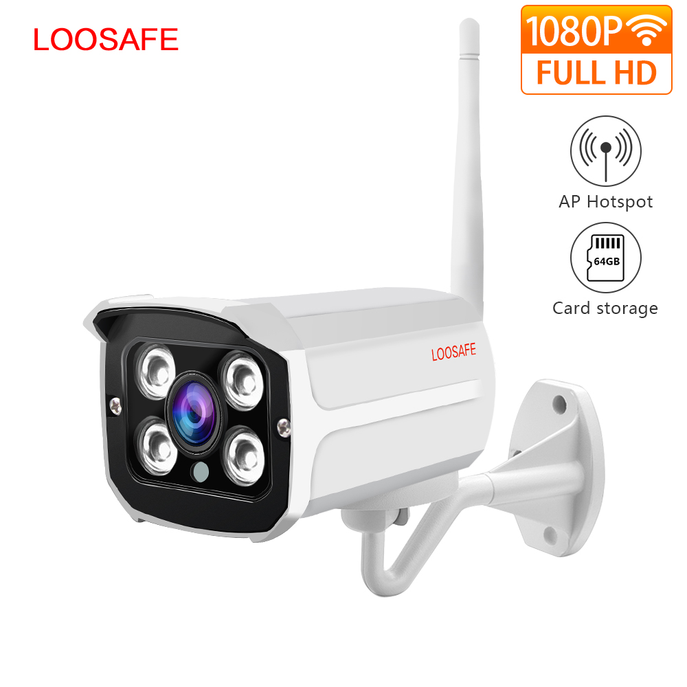 LOOSAFE 2MP IP Camera Home Wifi Security Kamera IP Bullet Camera Pengawasan CCTV Outdoor CCTV IP66 Full Weatherproof Camera