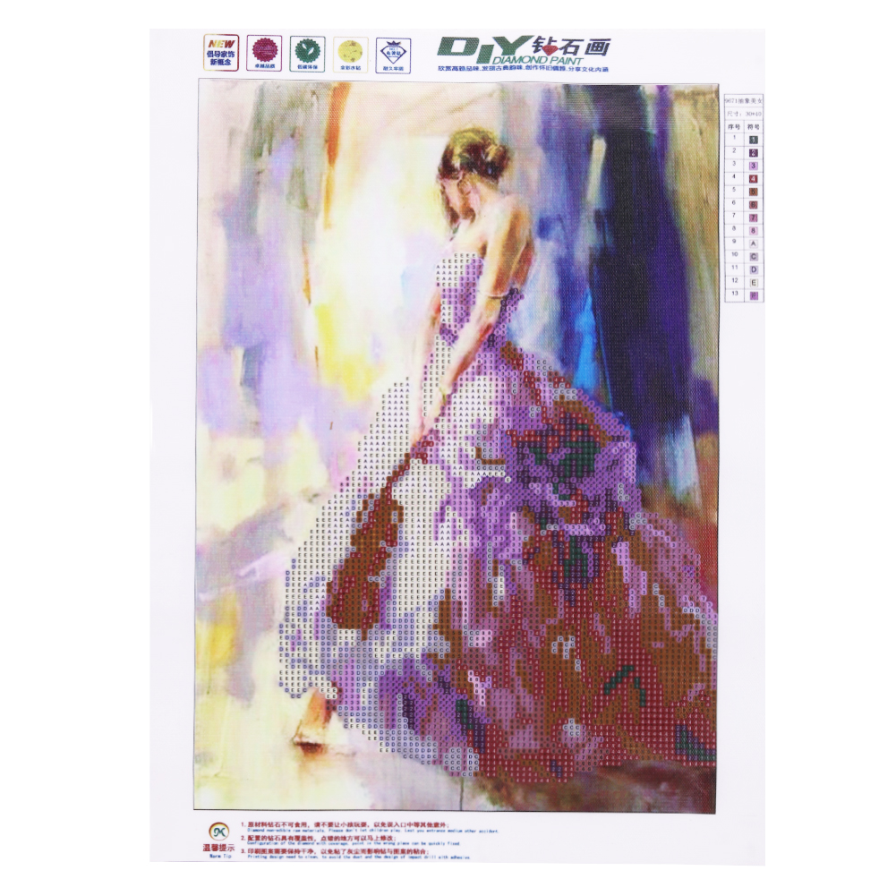 5D DIY Diamond Painting Butterfly Lady Mosaic Crystal Round Rhinestone Portrait Embroidery Cross Stitch Beauty Home Decor