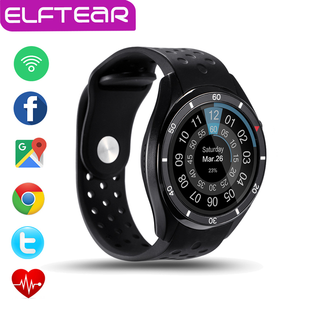 ELFTEAR Aiwatch I3 Smart Watch Android 5.1 Amoled 3 Г Smartwatch Телефон MTK6580 Quad Core GPS WI-FI Монитор Сердечного ритма PK LEM5 KW88