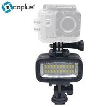 Mcoplus 20 unids Impermeabilizan la cámara de Vídeo LED Lámpara de Luz Bajo El Agua 40 m Buceo para gopro dv cámara htc xiaoyi sj5000 sj6000 y acción cámara