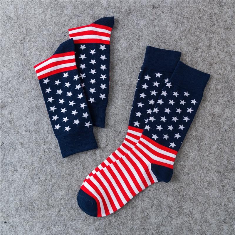 Latest American Trump Flag Maple Leaf Socks American Flag Socks Striped Cotton Socks Sports Socks