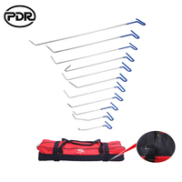 PDR Tools Hooks Spring Rods Paintless Dent Removal Car Repair Kit Remover Door Dent Ding Hail Removal With Original Tool Bag