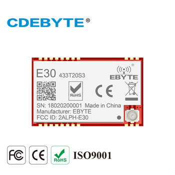 E30-433T20S3 Long Range UART SI4438 433mhz 100mW IoT Wireless Transceiver 433 mhz Transmitter Receiver IPEX Stamp Hole Module cc1310 module 433mhz 1w smd wireless transceiver e70 433nw30s iot 433 mhz ipex antenna transmitter and receiver