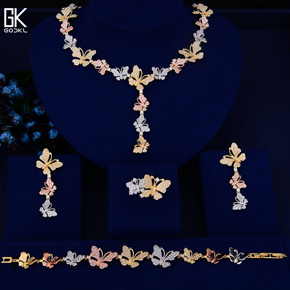 GODKI Luxury Butterfly Statement Lariat Necklace Earring Sets Jewelry Sets For Women Wedding Zircon CZ Dubai Bridal jewelry SetsGODKI Luxury Butterfly Statement Lariat Necklace Earring Sets Jewelry Sets For Women Wedding Zircon CZ Dubai Bridal jewelry Sets