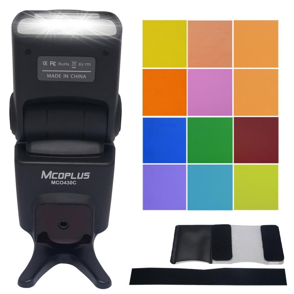 Mcoplus MCO-430 Flash TTL LCD Speedlite for Nikon D7100 D7000 D5100 D5300 D3100 D600 D750 D800 D3200 D5500 D90 D80 D300s цена 2017