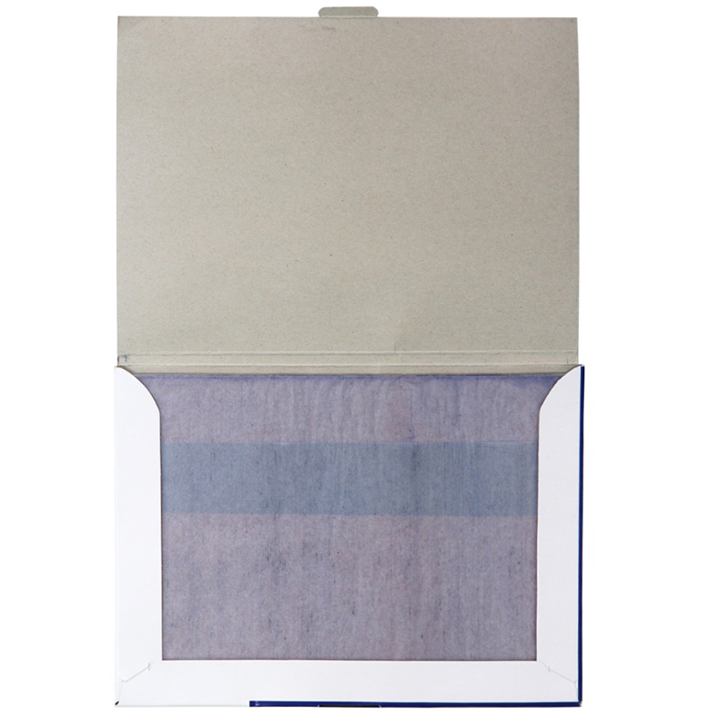 Купить с кэшбэком Deli 1 Pack 100 Sheets Blue Color 32K Thin Carbon Paper Include 3 Red Ones 32k 127.5x185mm Accounting Supplies 9374