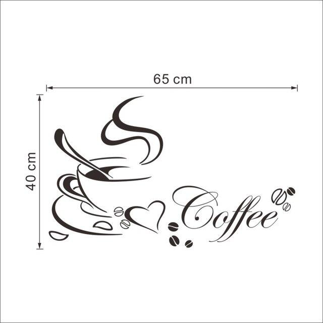 Coffee Heart Vinyl Quote Wall Sticker 8