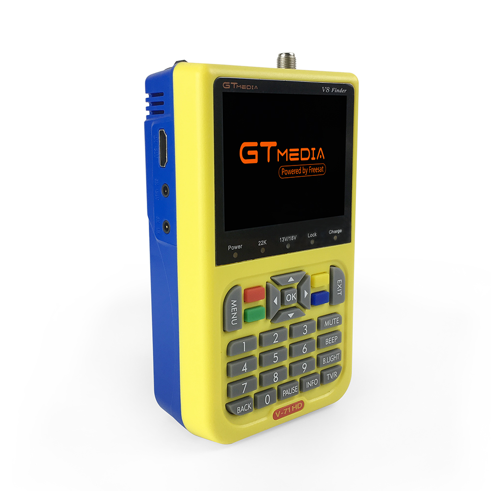 Image 2 - GTmedia Satellite Finder Meter V8 Finder HD DVB S2 SatFinder 3.5 inch Color with 3000mA Battery Freesat V8 Finder FTA Sat finder-in Satellite TV Receiver from Consumer Electronics