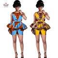 Из двух Частей Набор Женщины Новых Конструкций Шорты и Топ Dashiki африканской Печати Женщины Набор Летом Плюс Размер Африканская Женская Одежда WY542