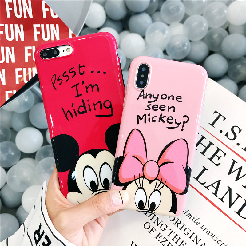 Cartoon Minnie Mickey Mouse Donald Daisy Duck Soft TPU Case For iPhone X 7 8 Plus Cases For iPhone 6s 7 Plus Covers Capa