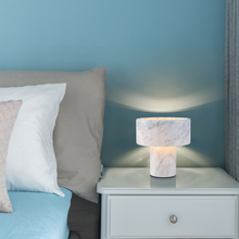 JAXLONG Nordic Creative Marble Living Room LED Table Lamp Bedroom Bedside Luxury Home Decor Table Lights Study Simple Desk Lamp цена и фото