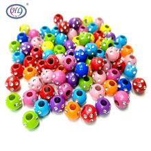 HL Quality Products 8MM 50-100pcs With Rhinestone Acrylic Beads Mix Colors DIY Scrapbooking For Making Bracelet Accessories hl quality products 7mm 100pcs lot acrylic beads mix colors diy scrapbooking for making bracelet accessories