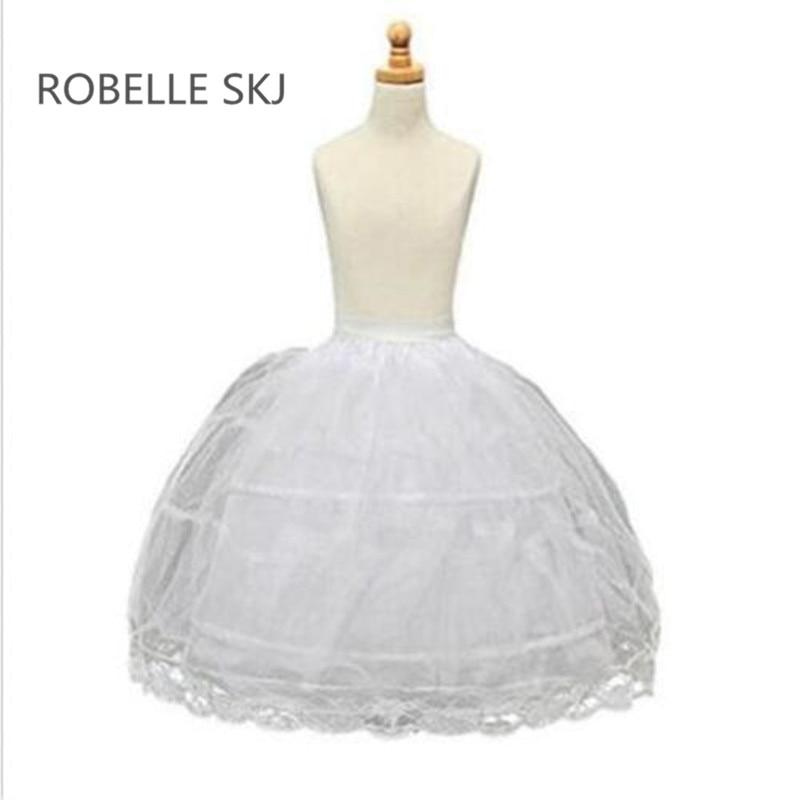 f79da692136 Long Enfant Jupon pour Enfants Fille 2 Cerceaux Jupon Crinolines Slip Jupon  pour Robe De Demoiselle