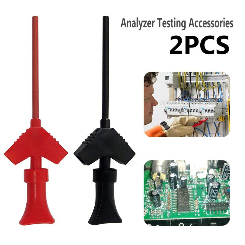 P5003 1 Pair Mini Analyzer Testing Probe Grabber SMD IC Test Hook Clip Jumper Probe Logic Analyzer Testing Accessories J3 promotion multimeter part colorful electrical testing hook clip grabber 8 pair