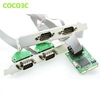 Mini PCI express 4 Serial ports Controller card mini PCIe to DB9 RS232 adapter mini PCI E COM Card MCS9904