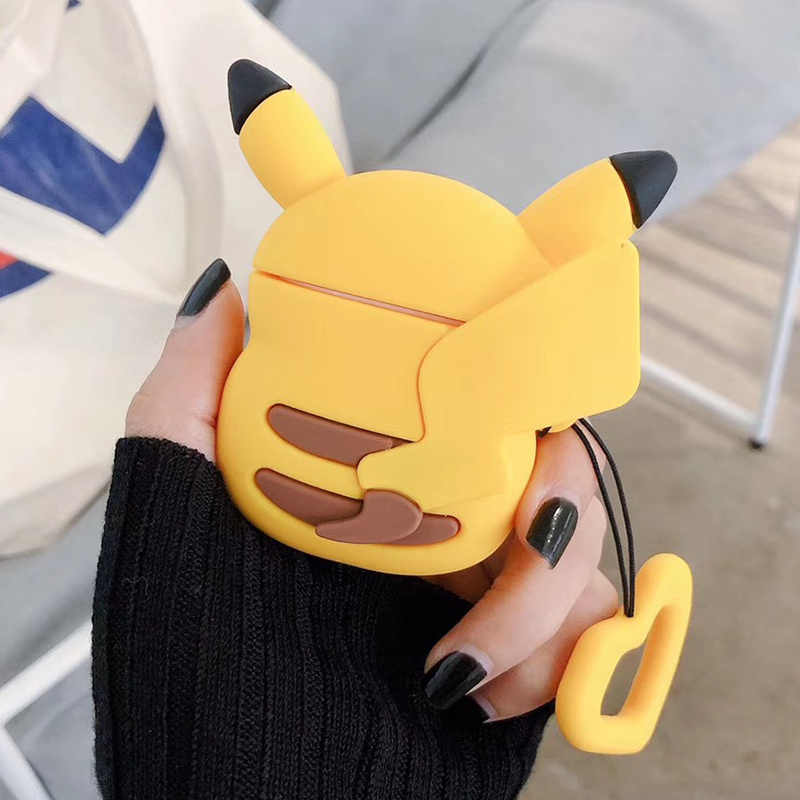 For Airpods 1 2 Case Silicone Cartoon Pikachus Cover for Apple Airpods Cute Earphone Case 3D Headphone case Earpods Accessories