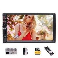 2 DIN Capacitive Touchscreen Car MP5 Player Autoradio Bluetooth Handsfree in Dash GPS Navigation Head Unit FM Radio Recever