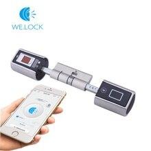 We lock fingerprint door lock moblie remote control lock for smart door lock