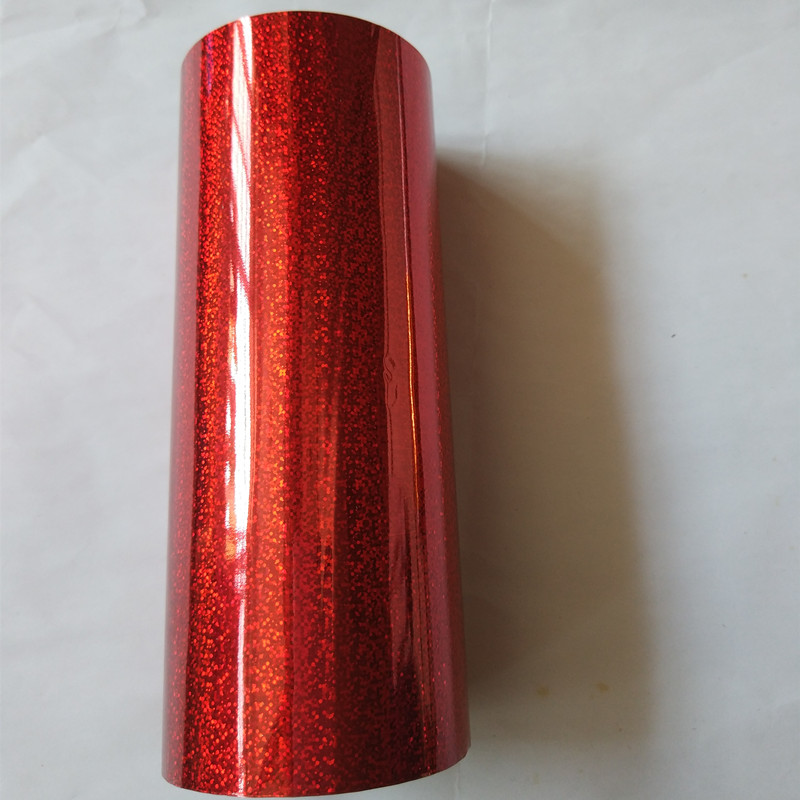 Holographic foil hot stamping foil hot press on paper or plastic red small mess pattern heat transfer film holographic foil transparent small circle y06 stamping foil hot press on paper or plastic heat stamping film
