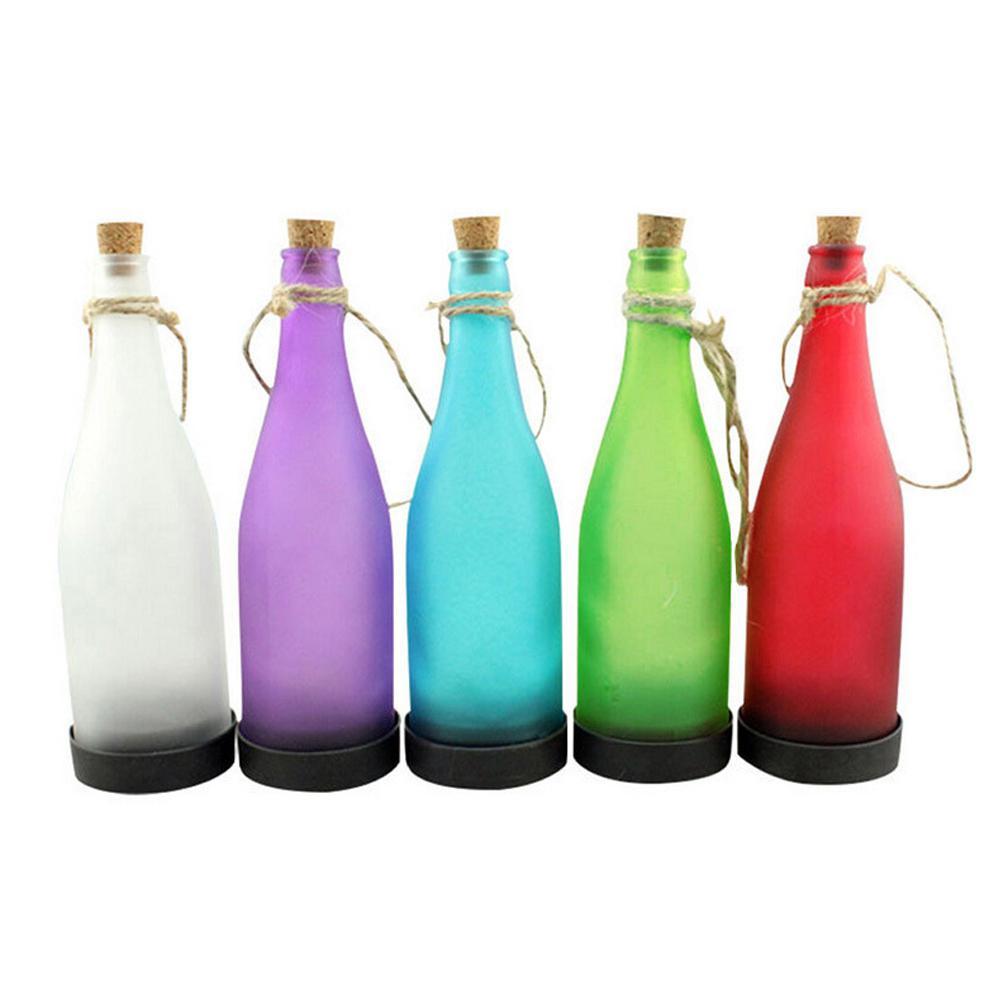 TPFOCUS 5PCS Solar-powered Wine Bottle Lamp Outdoor Night Light Hanging Pendant Decoration (Random Colour)
