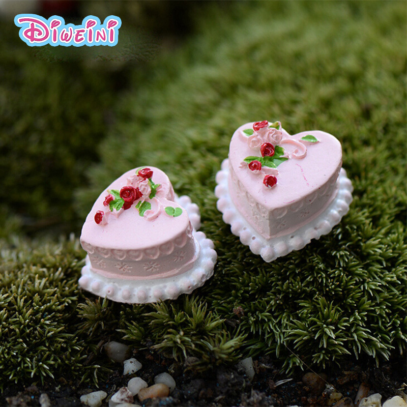 2pcs Birthday Cake Simulation Food Miniature Figurine Pretend Play Kitchen Toy Doll House DIY Accessories Gift Baby Gift