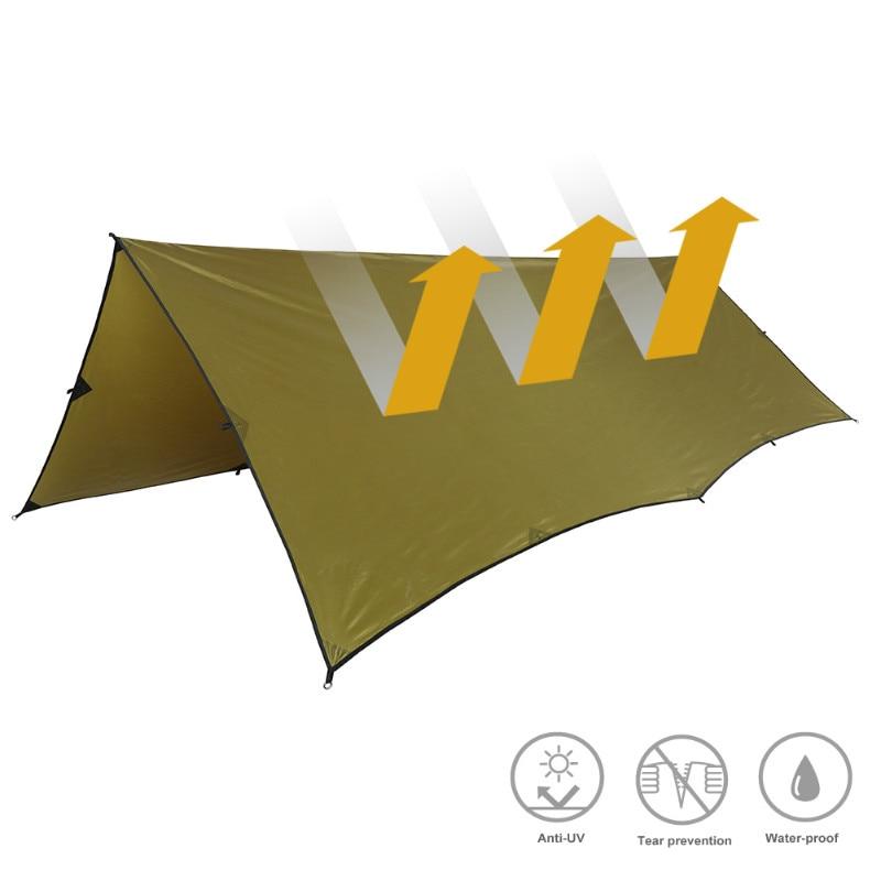 OneTigris 210T Polyester abri solaire 3x4m Compact polyvalent Durable sac à dos bâche plage tente auvent 100% étanche