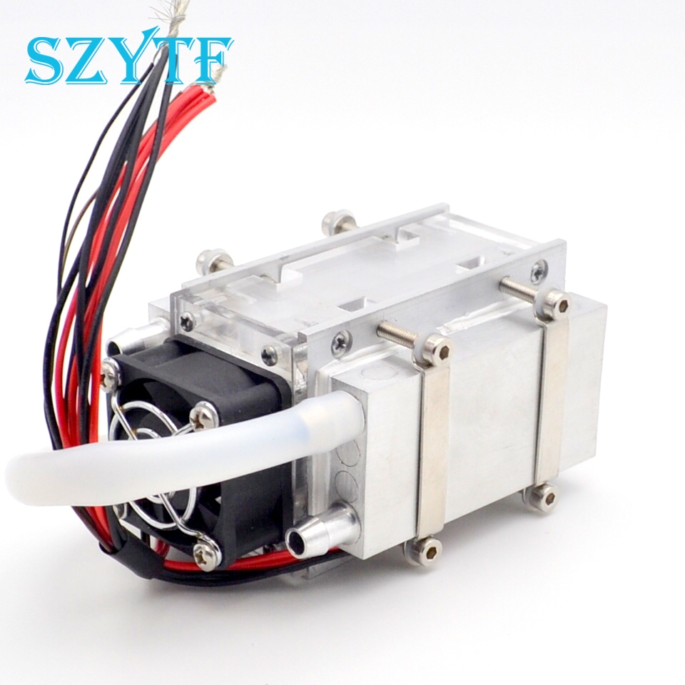 DIY TEC Peltier semiconductor refrigerator water cooling air condition Movement for refrigeration and fan