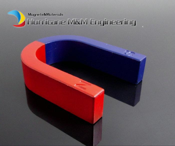 2pcs Toy Experiment Magnet U Type 80x60x20 mm Horseshoe blue red / Toy magnet Magnetic Teaching Tool Ferrite 12 x 1 5mm ferrite magnet discs black 20 pcs