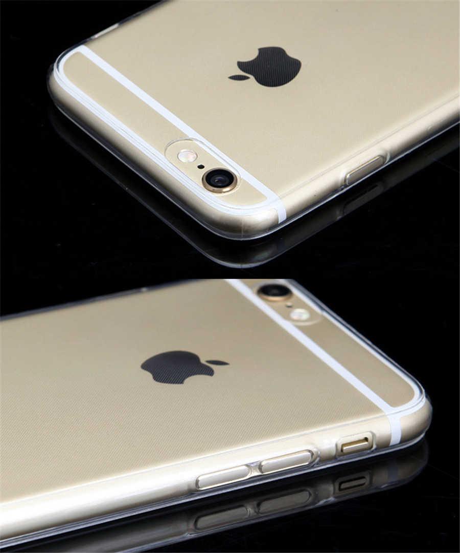 جديد شفاف واضح حالة لينة TPU حالة غطاء سيليكون رقيقة جدا حقيبة هاتف محمول ل فون 8 7 5 5 S SE 6 6 s زائد X S R ماكس