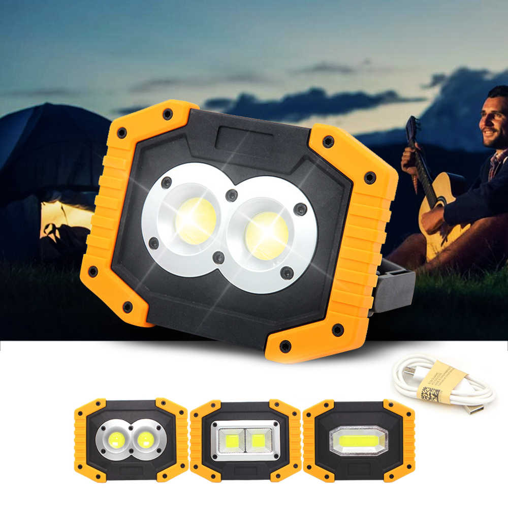 DOZZLOR 30W Portable USB Rechargeable LED Work Light Emergency Searchlight W839 W840 W841 Yellow COB Light for Camping Lamps