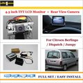 "4.3"" TFT LCD Monitor + Car Rearview Back Up Camera = 2 in 1 Car Parking System - For Citroen Berlingo / Dispatch / Jumpy"
