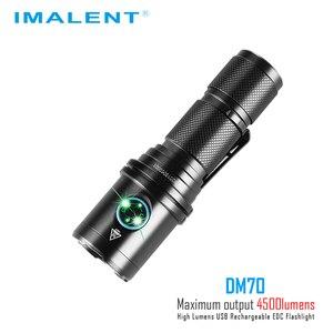 Image 4 - IMALENT DM70 懐中電灯 CREE XHP70.2 最大 4500 ルーメンビーム距離 306 メートルハンドヘルドトーチ + 21700 5000mAh 充電式バッテリー