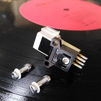 2018 Japón 3600L fonógrafo Pickup Stylus chapado en oro fonógrafo aguja cartucho montaje tornillos conector de sonido con LP