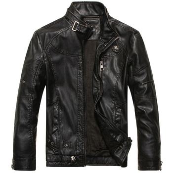 Leather Jacket Men Motorcycle Leather Jackets jaqueta de couro masculina motoqueiro casaco male bomber jacket Mens veste homme