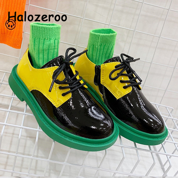 Autumn 2019 Baby Girls Black Shoes Kids Genuine Leather Shoes Children Party Brand Loafer Boys School Oxford Fashion Dance Shoes