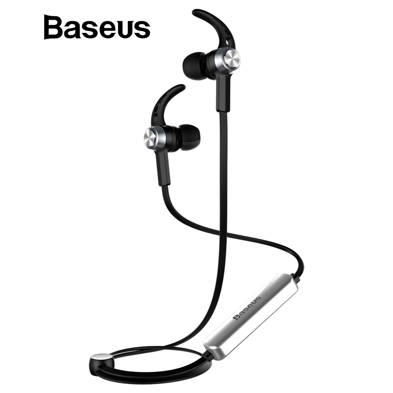 Baseus B11 Wireless Bluetooth V4.1 Earphone Magnet Hands Free in-Ear with Mic for iPhone Xiaomi Sport Stereo Earbuds Headphone ggmm earphone for phone in ear stereo earphone bass hands free earphone with mic ear headsets gaming earbuds for iphone samsung