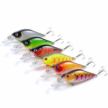 Minnow Fishing crank bait plastic 7cm/6.8g The bionic treble hooks Hard Lure Artificial fishing flies Outdoors trout