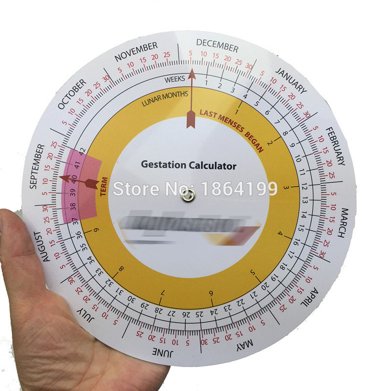 18cm Big Size Gestation Calculator Wheel Pregnancy Goniometer Expected Date Of Birth Calculator