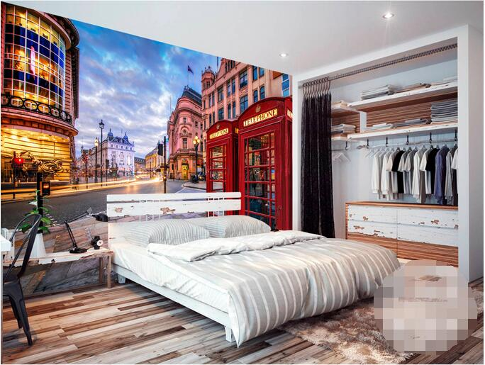 Custom photo 3d room wallpaper Non-woven mural picture European-style mailbox street mural London vintage wallpaper for walls 3d 3d room wallpaper custom mural non woven 3 d european angel figure looking down ceiling mural photo wallpaper for walls 3d