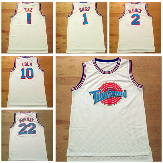 Space Jam Tune Squad #2 D.DUCK Retro Basketball Jersey