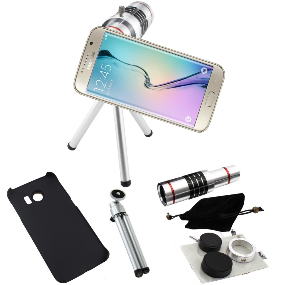 Telecope 18x Zoom Case Telephoto Camera Photography Lente lens+Aluminum Tripod For Samsung Galaxy S6 S7 Edge Plus/S8 S8 PPLUS 4x 12x zoom telescope 4x adjustable 12x telephoto tripod camera lens photo digital magnification for samsung mini plus s7 a j s6