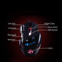 Professional WiredNew Gaming Mouse 7 Button 5500 DPI LED Optical USB Gamer Computer Mouse Mice Cable Mouse+Mouse pad