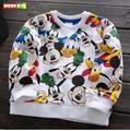 Бесплатная доставка 2017 весна осень baby boy одежда пуловер хлопок полный рукав футболки детская одежда мальчиков верхняя одежда