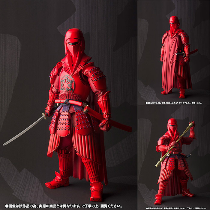 Star Wars Ashigaru Red Akazonae Koyal Guard PVC Action Figure Collectible Model Toy 17cm neca planet of the apes gorilla soldier pvc action figure collectible toy 8 20cm