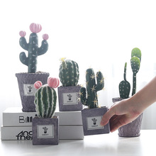 Creative Cactus Simulation Plant Crafts Living Room Television Cabinet Decoration Decoracion Artificial Plants Greenery