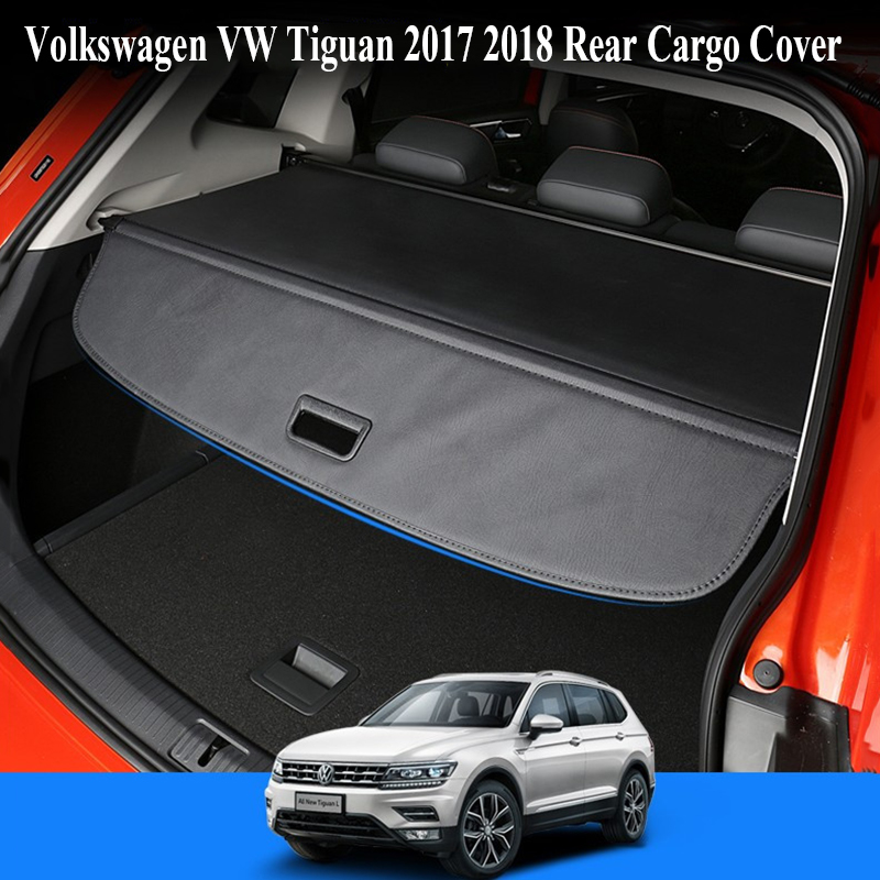 For Volkswagen VW Tiguan 2017 2018 Rear Cargo Cover privacy Trunk Screen Security Shield shade (Black, beige) Auto Accessories for volkswagen vw touran 2016 2017 2018 rear trunk security shield cargo cover high qualit auto accessories black beige grey
